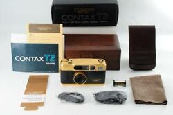 Contax Contax T2 60th Anniversary Limited Gold Rare