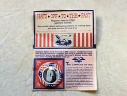 Rare American Oil Company Sweepstakes Gas Rewards And Campaign Button Hoover