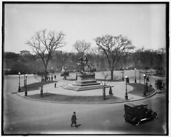 1905 Photo Of View Of Central Park And Sherman Statue From The Windows Of Hotel