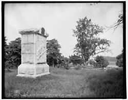 1903 Photo Of The Peach Orchard And 3rd Mich Infantry Monument Gettysburg L