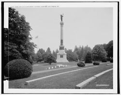 1903 Photo Of New York State Monument Soldiers' National Cemetery Gettysburg Pa