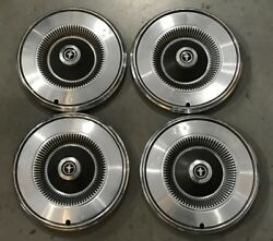 1 Set Factory Vintage Ford Mustang Hubcaps Wheel Covers 14and039and039 1972-1973 705