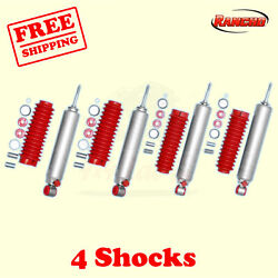 Rs9000xl Frontandrear 0 Lift Shocks For Ford E-350 2wd 75-91 Kit 4 Rancho