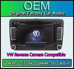 Vw Rcd 510 With Reverse Camera Input Vw T5 Touchscreen Radio Stereo 6cd Player