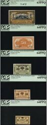 Tt Pk S1241-s12451918 Russia Complete Set 5 Notes Pcgs Gems Very Rare See Info