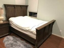 Restoration Hardware Bed Frame Queen With Headboardand Footboard