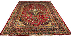 Old Hand Knotted Wool Rug Kasha 1259 8'2x11'1'
