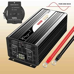 Super Power 6000w Pure Sine Wave Power Inverter 12v/24v/48v Dc To Ac 120v