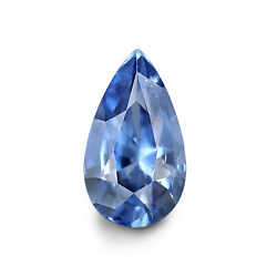 Ceylonese Blue Sapphire 1.64 Ct Unheated Lab Certified Natural Pear Gemstone