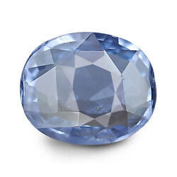 Ceylonese Blue Sapphire 3.57 Ct Unheated Lab Certified Natural Oval Gemstone