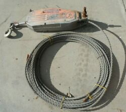 Tu32 Grip Hoist Manual Cable Hoist W/ Wire Rope And Handle