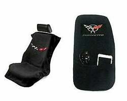 Seat Armour - Seat Protector Cover/towel And Console Cover With C5 Corvette Logo