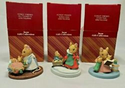 3 Forest Friends Mice Mouse Family Mini Figurines Avon Gift Collection New Box