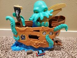 Thomas And Friends Fisher-price Adventures Sea Monster Pirate Ship Set Toy Euc