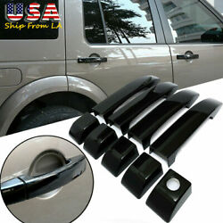 Glossy Black Abs Door Handle Cover For Land Rover Range Vogue L322 2002-2012