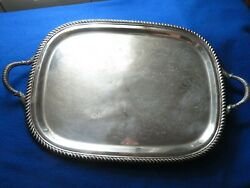 Poole Silver Co. 3212 19 In Silver Tray W/handles