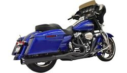 Bassani Black 2-into-1 Full Exhaust System Harley Milwaukee Eight Touring 17-20
