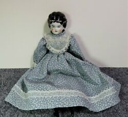 """""""germany 3"""" Circa 1860s Antique Doll Porcelain Head, Arms And Legs"""