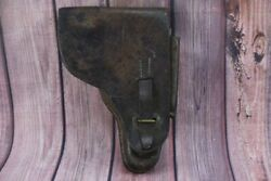 Wwii German Officers Luger P.08 Leather Pistol Gun Holster Wwi Ww2