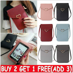 Cross body Touch Screen Mobile Phone Wallet Shoulder Bag PU Leather Pouch Case # $5.19