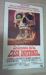 Pa1 Original The Legend Of Hell House Movie Poster Argentina 1973