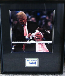 Hair Vs Hair The And039maneand039 Event Donald J. Trump Portrait In Frame With Signed Cut