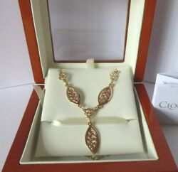 Clogau Gold 9ct Yellow And Rose Gold Queen Eleanor Necklace Chain Celtic Knot 18