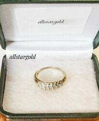 14ky Genuine Gold Ring With 35 Full Cut Diamond. Atw 0.55 Ct Weight 0.208 Oz