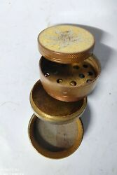 Mill Antique Brass Spice Coffee Grinder Pepper Small 4 Layers Grass Leaf Old