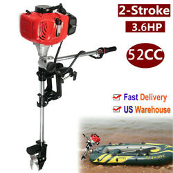 3.6hp 2stroke 52cc Outboard Motor Boat Strong Engine With Air Cooling System New