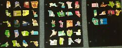Disney 50-state 3d Pin Set With Bonus-collectible-pins Have Been Retired