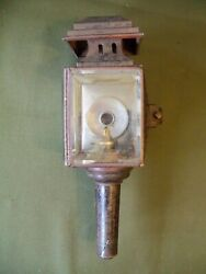 Unmarked V.g. Cond. Brass Era Carauto Lantern Side Lamp Horseless Carriage
