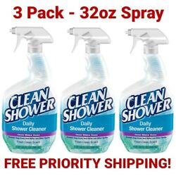 Scrub Free Clean Shower Daily Shower Cleaner 3 Pack 32oz Spray, Free Shipping
