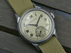 40and039s Vintage Watch Military Movado Ref. 14829 Cal. 470 All Steel Borgel Rare