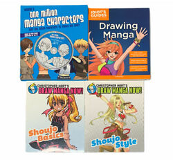 Lot Of Draw Manga Now By C. Hart Idiots Guide One Million Manga Characters Books