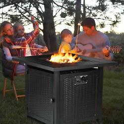 28quot; Steel Propane Gas Fire Pit Table Fireplace Patio Heater Outdoor Camping Gift