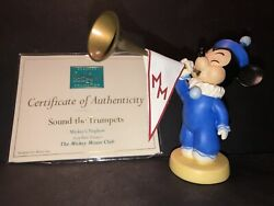 Wdcc Mickey Mouse Club Trumpeters - Sound The Trumpet - Dealer Show Exclusive