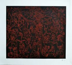 Mexican Art Master Sergio Hernandez Hand Signed Original Etching Ld Edition N78