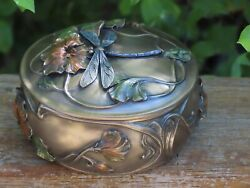 Dragonfly Trinket Box Veronese Collection, Bronzed