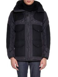 Moncler Gaumont Hooded Quilted-down Jacket In Black Size 5 3265