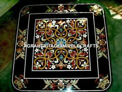 Gorgeous Marble Top Coffee Dining Table Mosaic Real Inlay Patio Decorative H4572