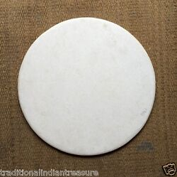 48 White Marble Round Plain Coffee Dining Table Top Home Decor Mosaic Art Gifts