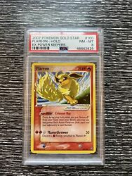 Pokemon Card Flareon Gold Star 100/108 Ex Power Keepers Psa 8