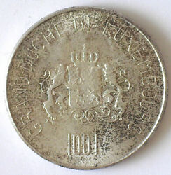 Luxembourg 1963 Silver 100 Francs Km-52 Bu 50,000 Minted