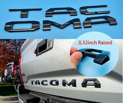 3d Raised Tailgate Insert Letters Fits 2016-2021 Toyota Tacoma Gloss Black