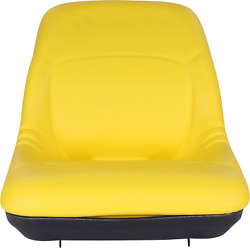 New Yellow Tractor Seat Am879503 Fits Deere 455 445 4115 4110 4100 4010
