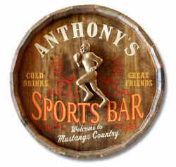 Sports Bar Personalized Barrel End Sign $332.00