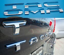 3d Tailgate Insert Letters Fits 2016-2021 Toyota Tacoma Chrome