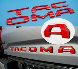 3d Tailgate Insert Letters Fits 2016-2021 Toyota Tacoma Red