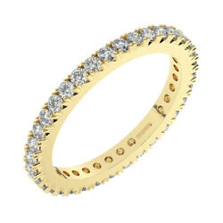 0.70ct Claw Set Round Cut Diamonds Full Eternity Ring In 9k Yellow Gold